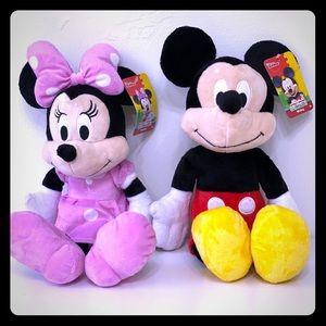Minnie and Mickey 18 inch Plush